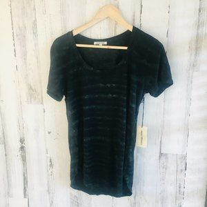 Cotton Citizen Tie Dye V-Neck T-Shirt Black Green